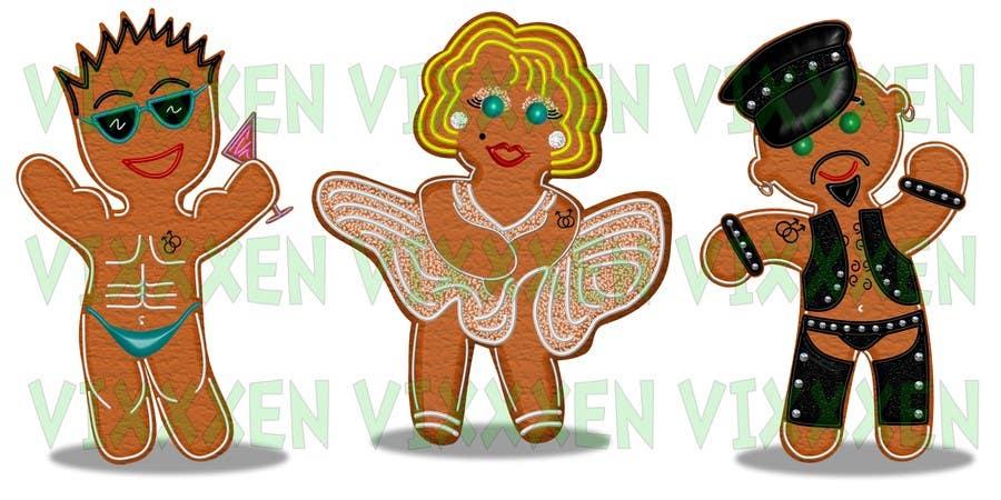 Bài tham dự cuộc thi #31 cho Illustration of Gay Gingerbread Men