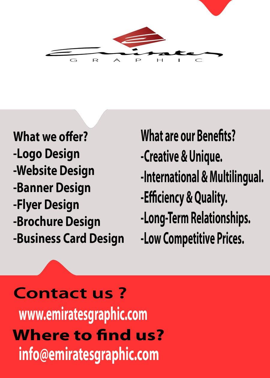 Kilpailutyö #52 kilpailussa Design a Flyer for Emirates Graphic