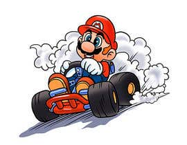 #22 for Draw Super Mario Kart caricature af AvatarFactory