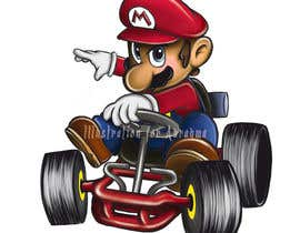 #32 for Draw Super Mario Kart caricature af abrahmatan
