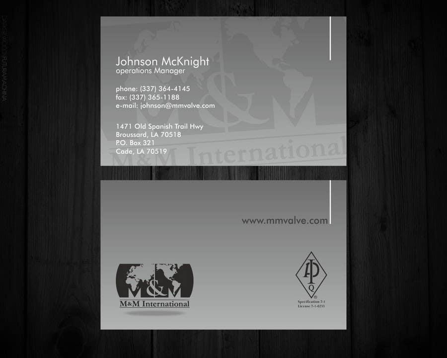 Kilpailutyö #36 kilpailussa Business Card Design for M&M International