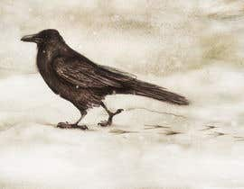 #61 for Illustration of Raven in Snow by marinaChe