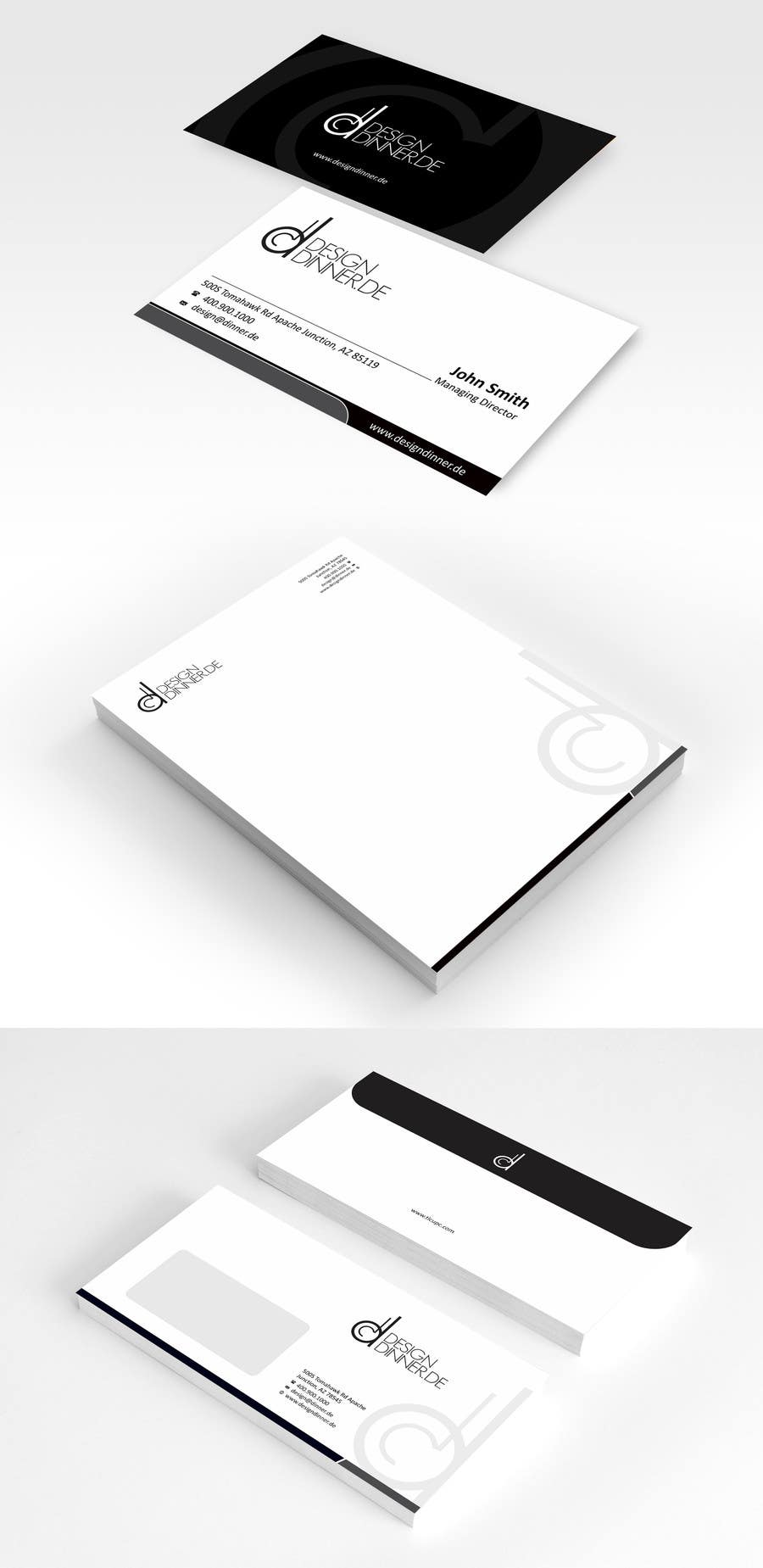#5 for Create Business set (Paper, Business Cards,..) for Company by ezesol
