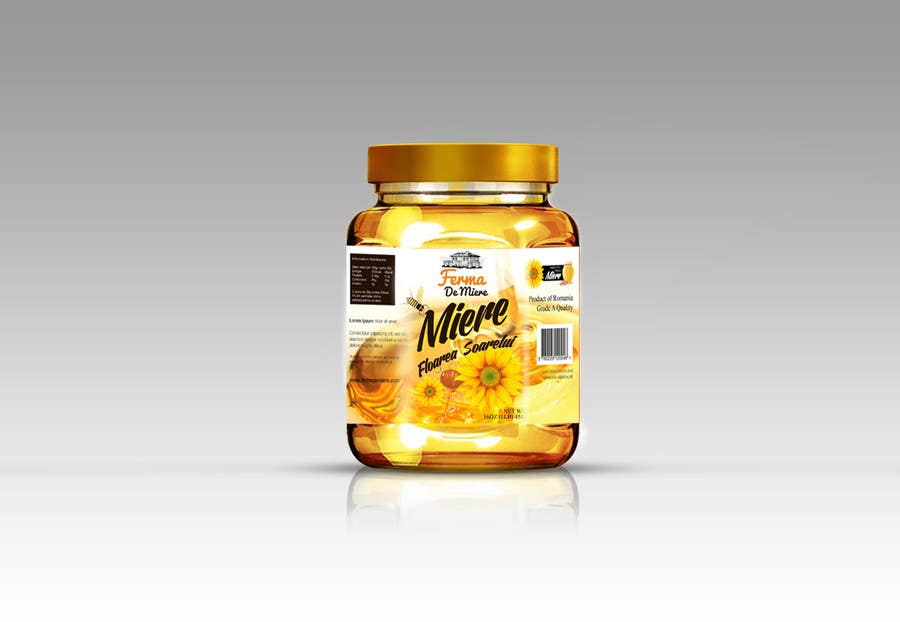 entry 11 by mandeepkrsharma for label design for honey jar