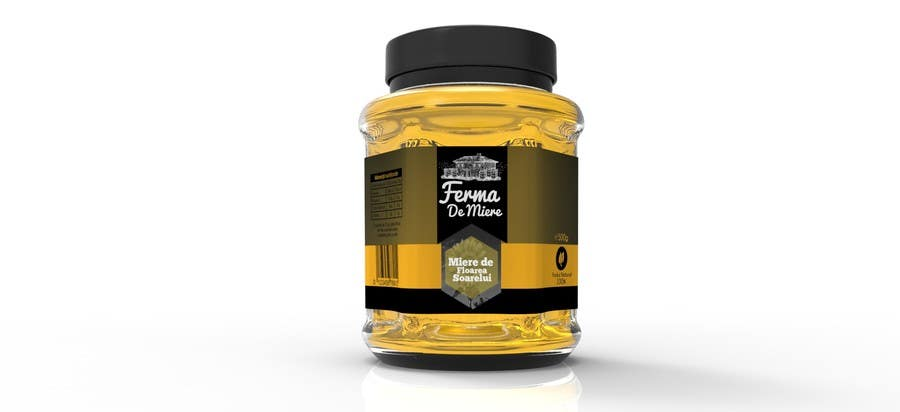 entry 65 by oroborus for label design for honey jar eticheta miere