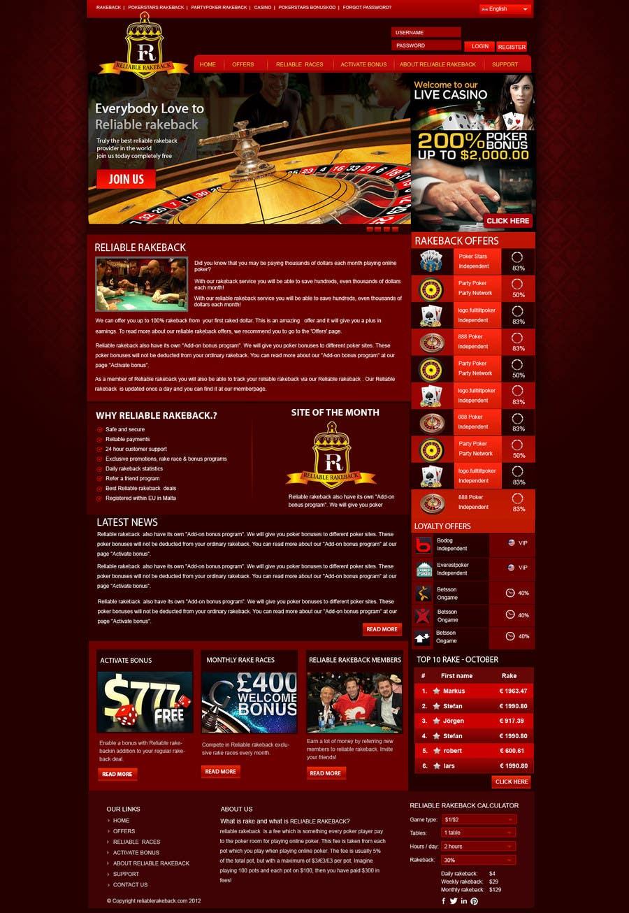 Kilpailutyö #40 kilpailussa Logo & website PSD design
