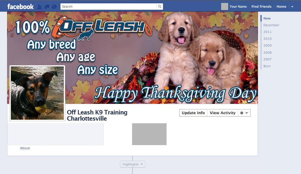 Proposition n°8 du concours Thanksgiving Facebook Banner and Profile Pic