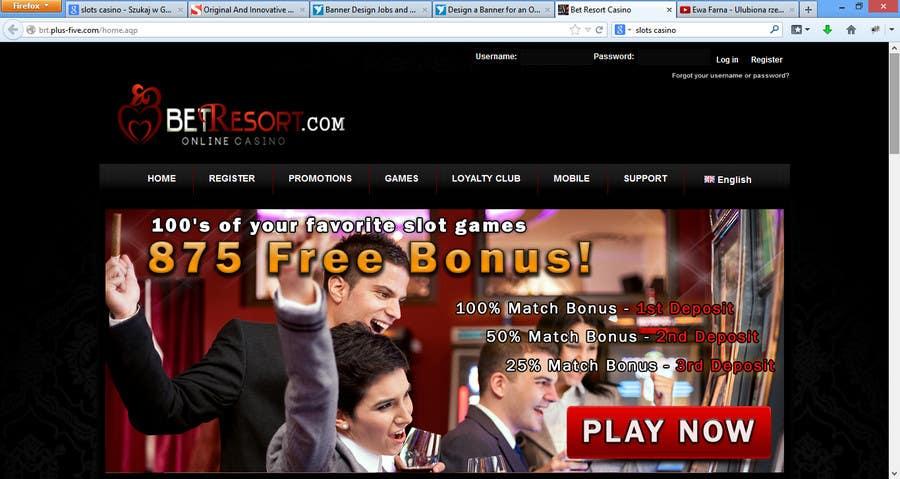 Konkurrenceindlæg #12 for Slot Games Banner for an Online Casino