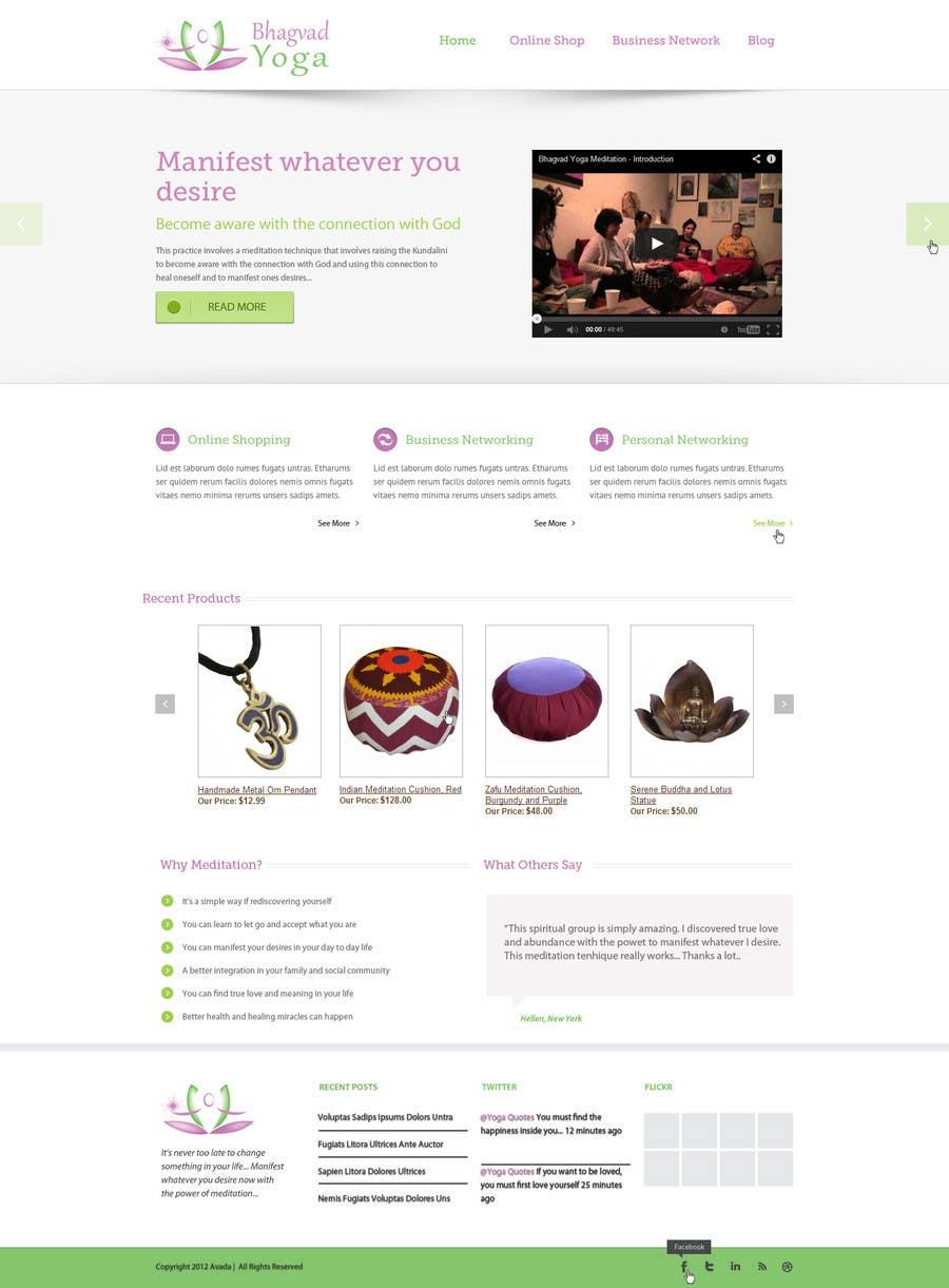 #47 for Design a Website Mockup for Bhagvad Yoga Website by avi77