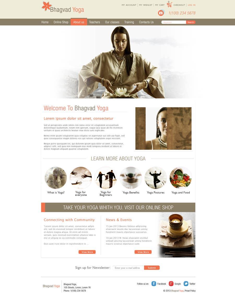 #36 for Design a Website Mockup for Bhagvad Yoga Website by grafixeu