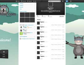 #16 untuk Design a Twitter background for pigdrive.com oleh elenaferre
