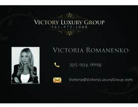 #23 untuk Design some Business Cards for Victory Luxury Group oleh stniavla