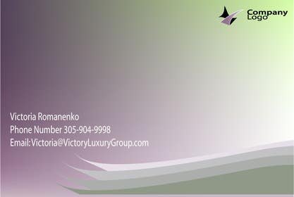 #8 for Design some Business Cards for Victory Luxury Group by Tania1410
