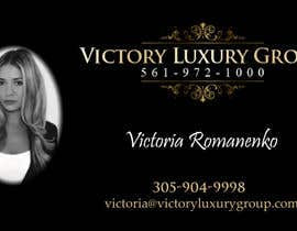 #21 untuk Design some Business Cards for Victory Luxury Group oleh lancer555