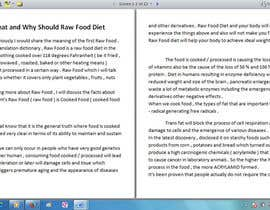 #6 para Write some Articles for Rawfood / Detox por evanuril