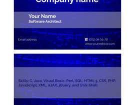 Nro 28 kilpailuun Need a business card for a software architect käyttäjältä yuliyainshina