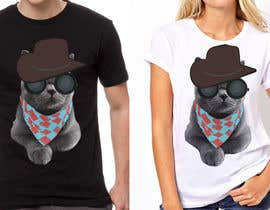 #25 for Design a Cat t-shirt by sandrasreckovic