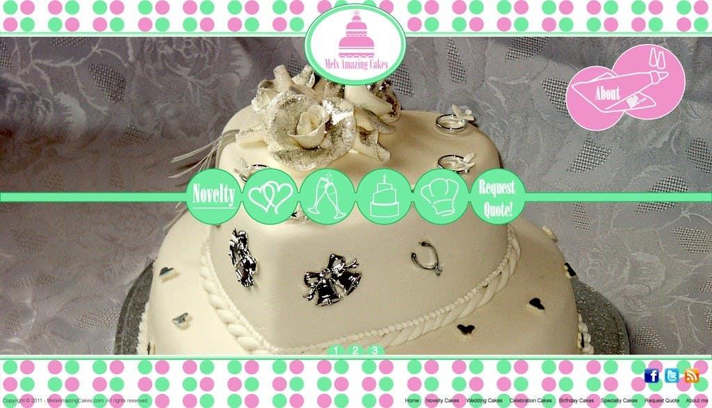 Inscrição nº                                         40                                      do Concurso para                                         Wordpress Theme Design for Melanies Amazing Cakes