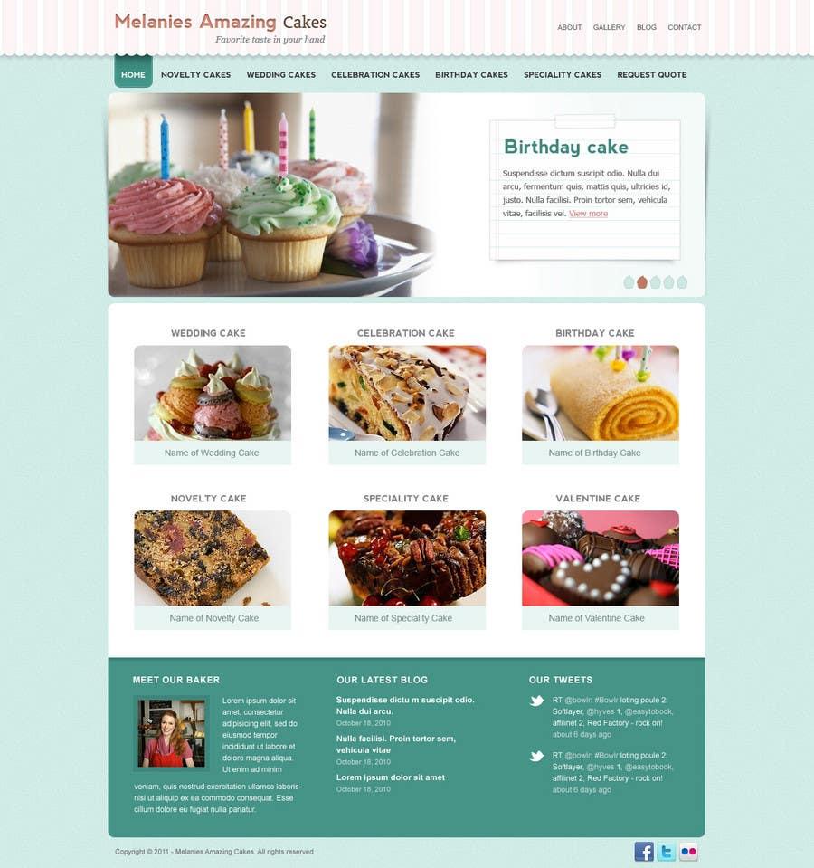 Inscrição nº                                         31                                      do Concurso para                                         Wordpress Theme Design for Melanies Amazing Cakes