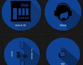 Nro 5 kilpailuun Design Graphic Icons for Website käyttäjältä hemanthbattepati