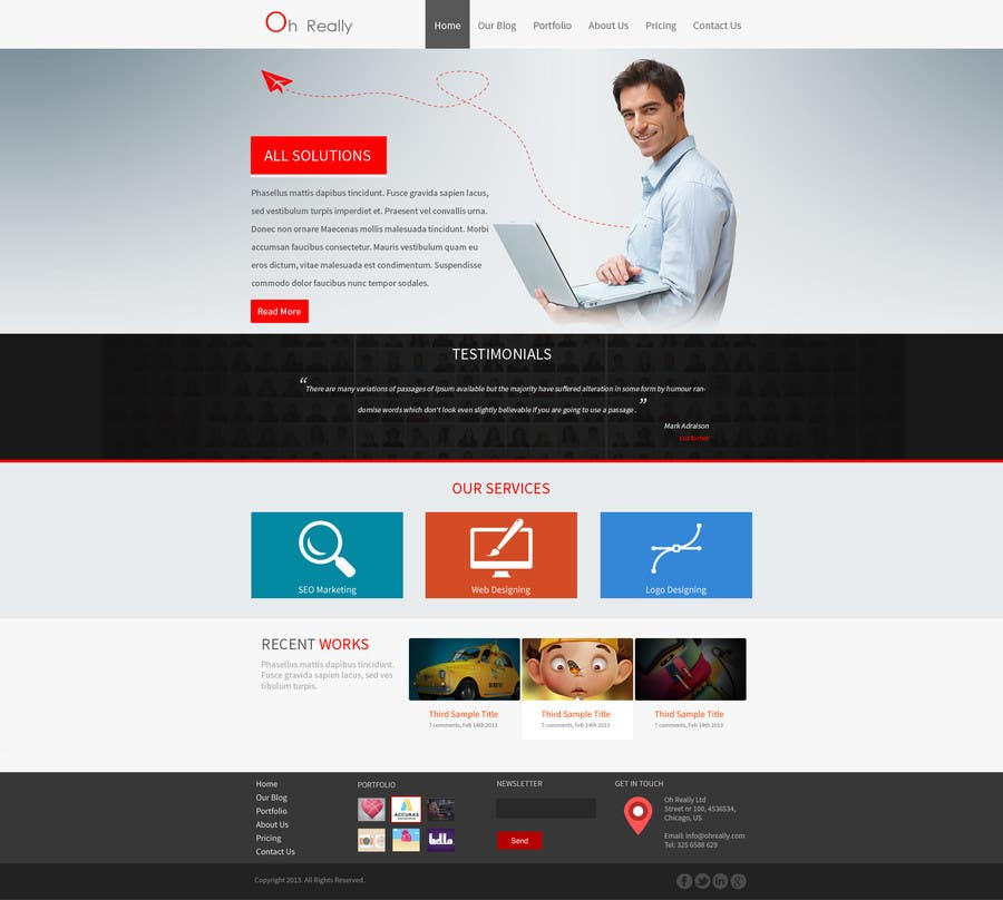 #5 for Design a clean and modern original PSD template by tania06