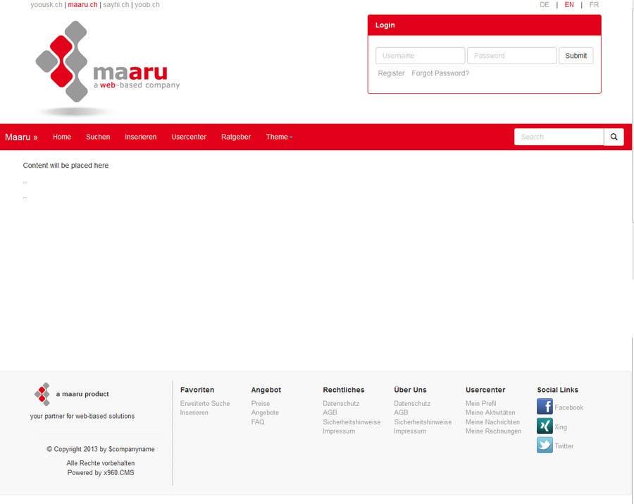 Kilpailutyö #4 kilpailussa Create a professional Basic Layout for a new Webpage - CSS & Responsive Design