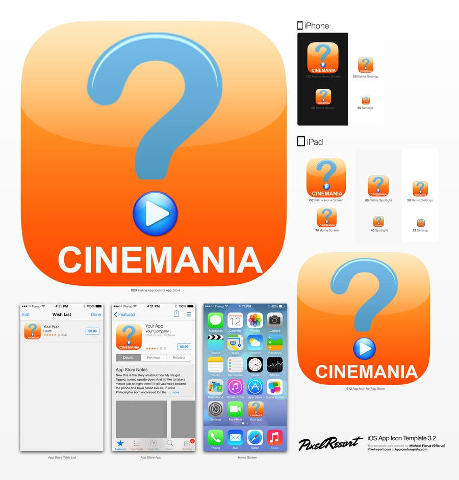 #6 for Design an Icon for iOS Movie quiz game by AuraE