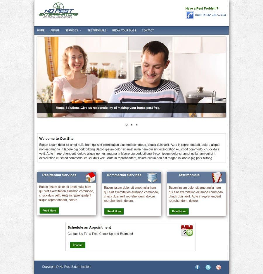 #20 for Build a Website/Splash page for No Pest Exterminators Inc. by experienced7