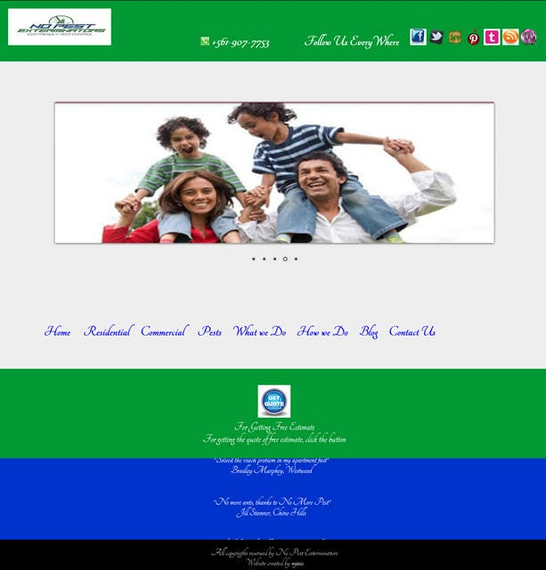 #4 for Build a Website/Splash page for No Pest Exterminators Inc. by maryamjamil