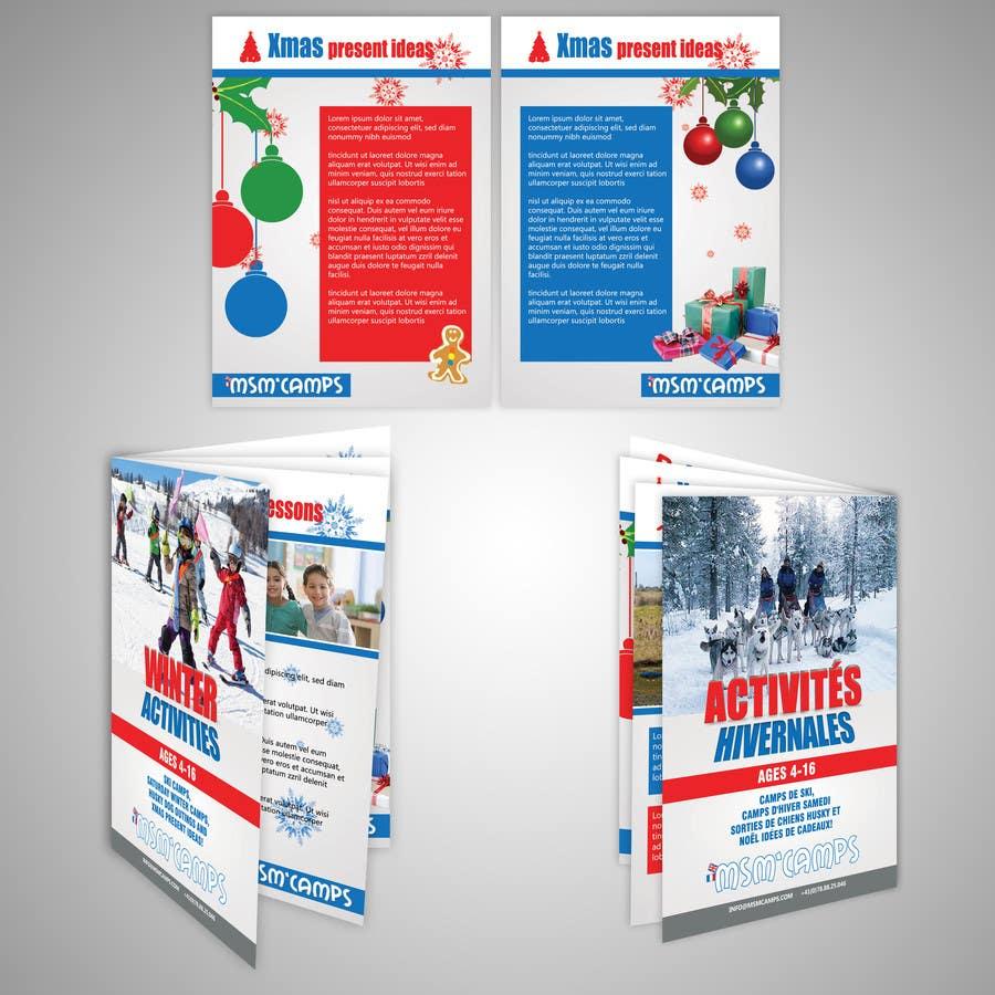 Konkurrenceindlæg #24 for Design a Brochure for kids ski camps,husky outings and christmas present ideas