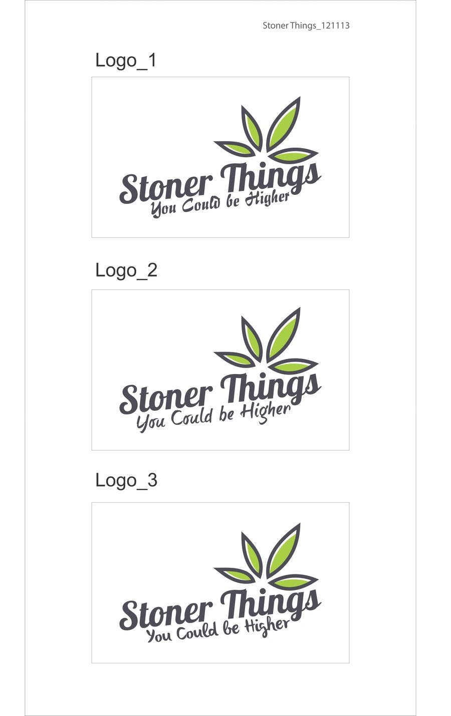 Konkurrenceindlæg #53 for Design a Logo for Stoner logo for shirt brand