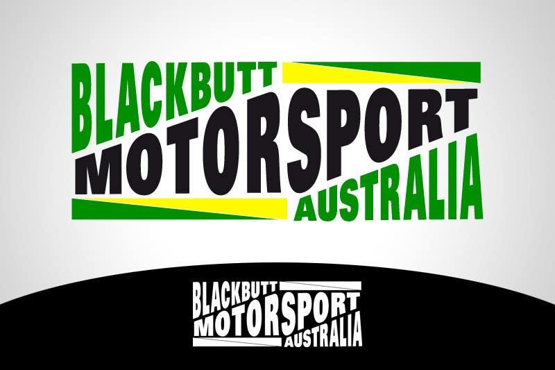 Kilpailutyö #                                        21                                      kilpailussa                                         Graphic Design for Blackbutt Motorsport Australia