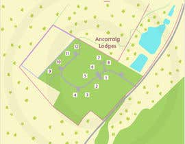 DrGrafix tarafından Illustrate our lodge park site map için no 26