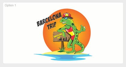 Graphic Design Contest Entry #5 for Barcelona Trip Website Logo with a Character Mascot (read carefully my requirements)