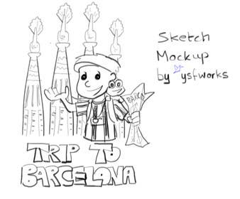 Graphic Design Contest Entry #16 for Barcelona Trip Website Logo with a Character Mascot (read carefully my requirements)