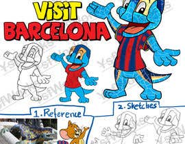 #38 for Barcelona Trip Website Logo with a Character Mascot (read carefully my requirements) af ysfworks