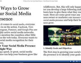 Nro 4 kilpailuun Need to Create Social Media Handout Guide käyttäjältä zeeshanayaz1