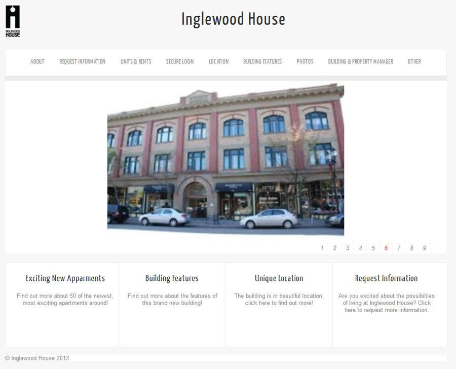 #1 for Create a Wordpress Template for Inglewood House by benfoulger