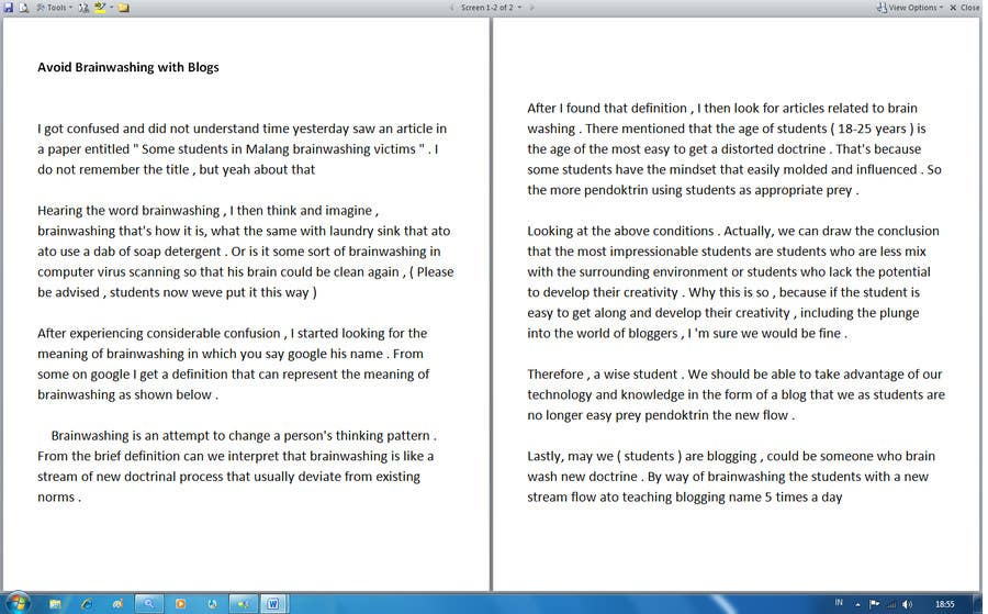 #6 for 500 words essay story by evanuril