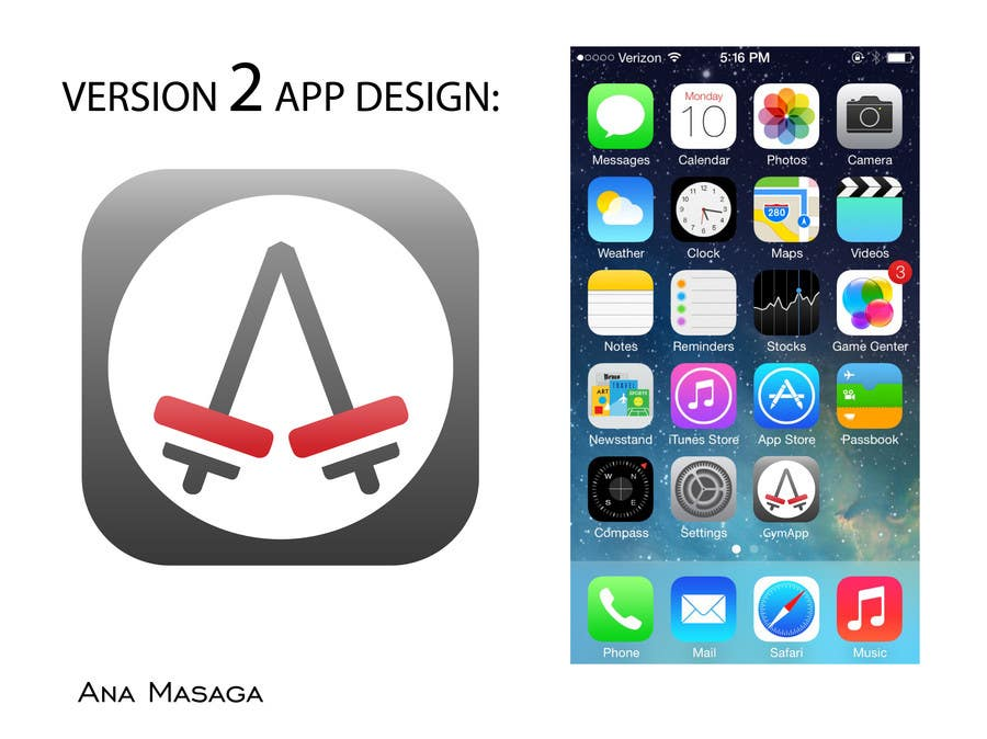 Contest Entry #107 for Design an App Icon for a Gym App