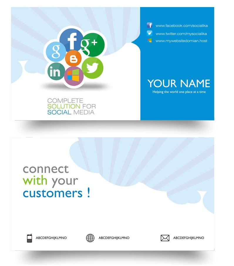 #16 for Design some Business Cards inspired by Social Media by MagicalDesigner