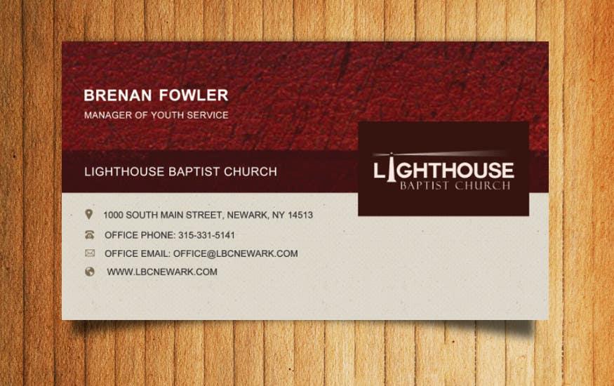 Inscrição nº 6 do Concurso para Design some Business Cards for a Church