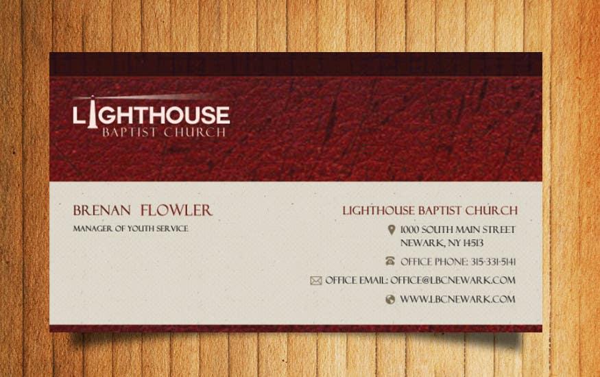 Penyertaan Peraduan #7 untuk Design some Business Cards for a Church