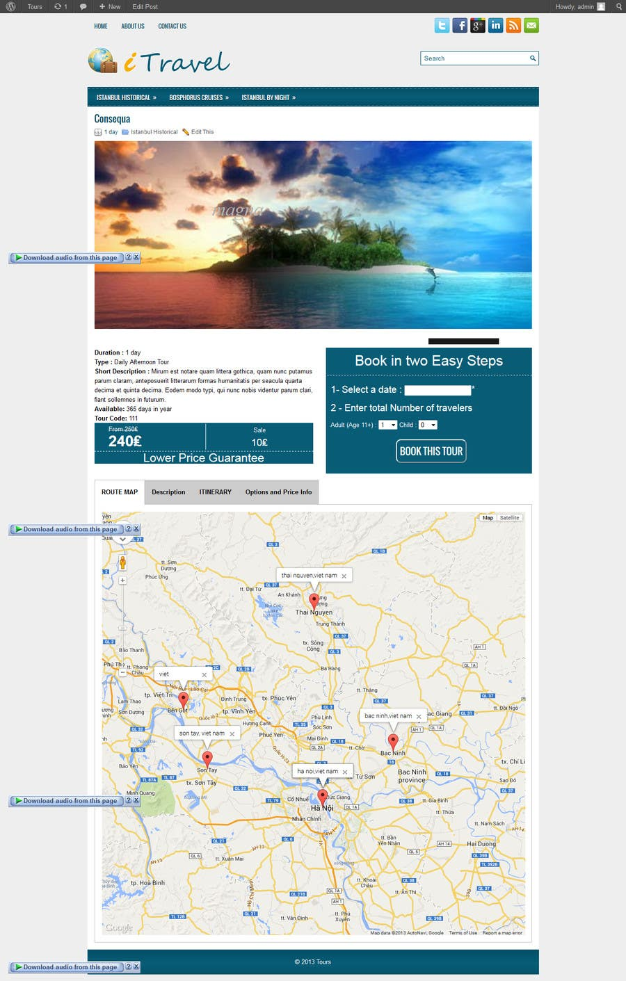 #9 for Istalling a wordpress tour booking site by codeunderground