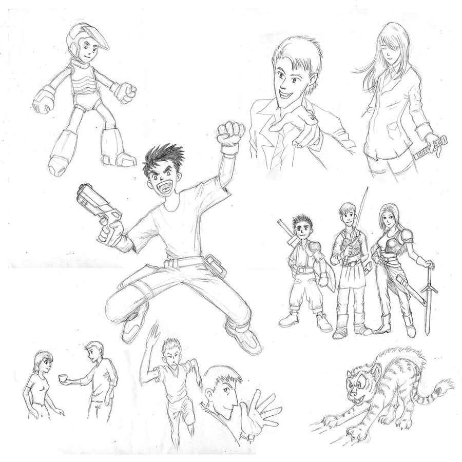 Proposition n°59 du concours Character Pencil Sketches