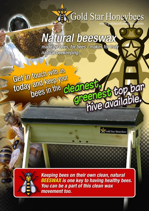 Contest Entry #                                        37                                      for                                         Advertisement Design for Gold Star Honeybees
