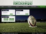 Graphic Design Konkurrenceindlæg #1 for Design a Website Mockup for ScoreKeeper