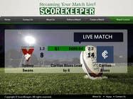 Graphic Design Konkurrenceindlæg #2 for Design a Website Mockup for ScoreKeeper