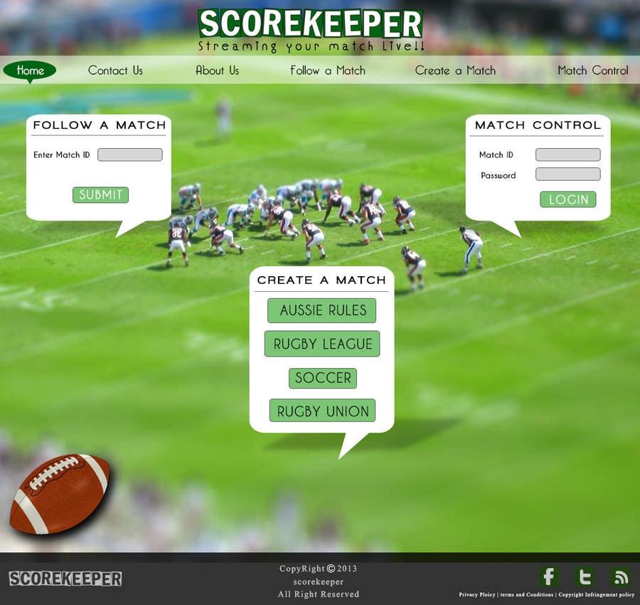 Konkurrenceindlæg #16 for Design a Website Mockup for ScoreKeeper