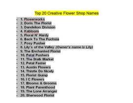 bilash7777 tarafından Suggest a company name for florist için no 21